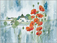 Sticker mural Poppy flower