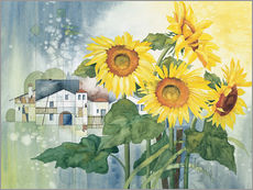 Sticker mural  Rays of sun flowers - Franz Heigl