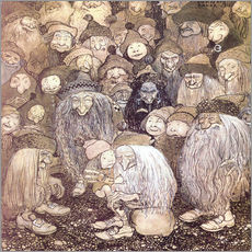 Sticker mural  The trolls and the gnome boy - John Bauer