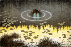 Sticker mural  An ordinary nix or something - Theodor Kittelsen