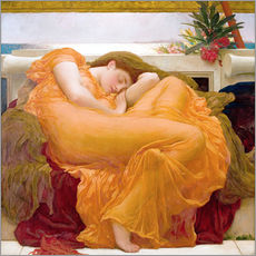 Tableau en plexi-alu  June flamboyante - Frederic Leighton