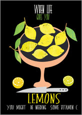 Sticker mural When live gives you lemons
