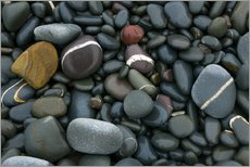 Tableau en plexi-alu  Pebbles on a beach - Keith Wheeler