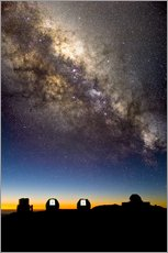 Tableau en plexi-alu  Mauna Kea telescopes and Milky Way - David Nunuk