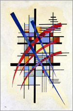 Sticker mural  Signes avec accompagnement - Wassily Kandinsky