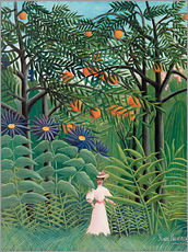 Sticker mural  Woman in an exotic forest - Henri Rousseau
