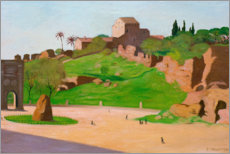 Sticker mural  Forum romanum - Felix Edouard Vallotton