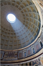 Tableau en plexi-alu  A shaft of light through the dome of the Pantheon, UNESCO World Heritage Site, Rome, Lazio, Italy, E - Martin Child