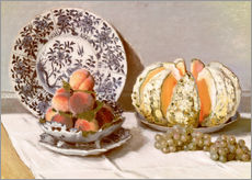 Tableau en plexi-alu  Nature morte au melon - Claude Monet