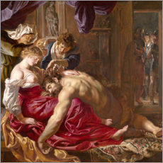Sticker mural  Samson et Dalila - Peter Paul Rubens