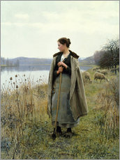 Sticker mural  The Shepherdess of Rolleboise - Daniel Ridgway Knight