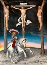 Tableau en plexi-alu  The Crucifixion with the converted Captain - Lucas Cranach d.Ä.