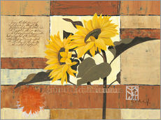 Tableau en plexi-alu  Rhapsody of Sunflowers - Franz Heigl