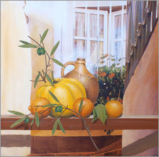 Tableau en plexi-alu  Still Life with Pumpkin II - Franz Heigl