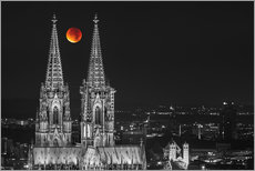 Sticker mural  Blood Red Moon Cologne Cathedral - rclassen