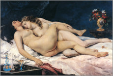 Poster  Le sommeil - Gustave Courbet
