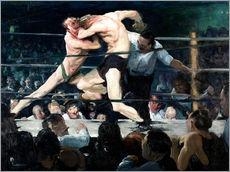 Sticker mural  Rencontre de boxe chez Sharkey - George Wesley Bellows