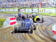 Sticker mural  The First Race at the Goodwood Revival, 1998 - Clive Metcalfe