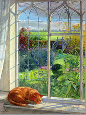 Sticker mural  Cat in the Window, Summer - Timothy Easton