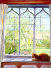 Sticker mural  Cat in window in spring - Timothy Easton