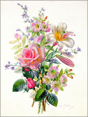 Sticker mural  A Pink Bouquet - Albert Williams