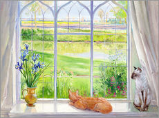 Sticker mural  Cats at the window - Timothy Easton
