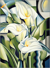 Sticker mural  Cubist lilies - Catherine Abel