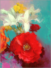 Tableau en plexi-alu  Poppy and Friends - Alyzen Moonshadow