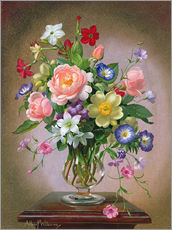 Sticker mural  Roses, Peonies and Freesias - Albert Williams