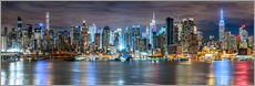 Tableau en plexi-alu  Panorama New York - Sascha Kilmer