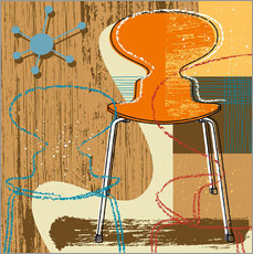 Sticker mural ant chair