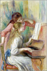 Sticker mural  Young Girls at the Piano - Pierre-Auguste Renoir