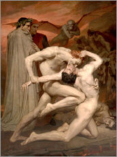 Tableau en plexi-alu  Dante et Virgile - William Adolphe Bouguereau