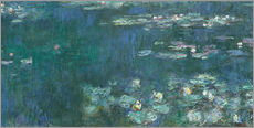 Sticker mural  Nymphéas, reflets verts 2 - Claude Monet