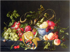 Sticker mural  Une nature morte avec des fruits - Cornelis de Heem