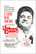 Tableau en PVC  Johnny Cash! The Man, His World, His Music - Entertainment Collection