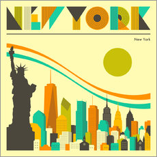 Sticker mural Skyline de new york