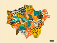 Sticker mural  Arrondissements de Londres - Jazzberry Blue