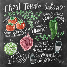 Sticker mural Tomato salsa recipe