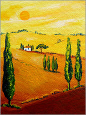 Sticker mural  Tuscany landscape 3 - Christine Huwer