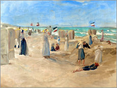 Tableau en plexi-alu  On the beach in Noordwijk - Max Liebermann