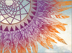 Sticker mural  Attrape-rêves violet et orange - Brenda Erickson