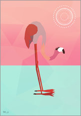 Tableau en plexi-alu  PINK FLAMINGO - Mark Ashkenazi