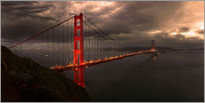 Sticker mural  Golden Gate mystical brown - Michael Rucker
