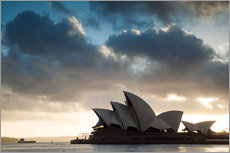 Tableau en plexi-alu  Famous Sydney Opera House at sunrise, Australia - Matteo Colombo