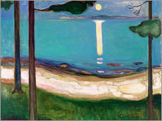 Sticker mural  Clair de lune - Edvard Munch