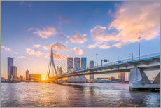 Tableau en plexi-alu  Rotterdam The Erasmus Bridge - Remco Gielen