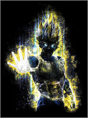 Sticker mural  La fureur de Vegeta - Barrett Biggers