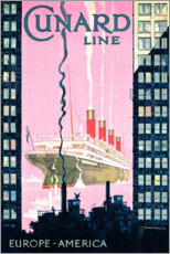 Tableau en aluminium  Cunard Line (anglais) - Kenneth Shoesmith