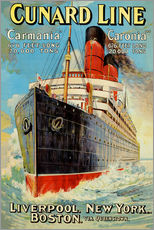 Sticker mural  Cunard Line - Edward Wright